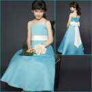 Free Shipping/A-line/Spaghetti/Satin/Ankle-Length/Flower girls dresses/FL049