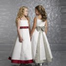 Free Shipping/A-line/Spaghetti/Satin/Ankle-Length/Flower girls dresses/FL052