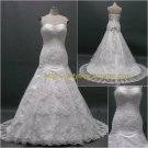 Free Shipping/A-line/Sweatheart/Satin&Organza/Floor Length/Bridal Wedding Dress/CWD008