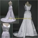 Free Shipping/A-line/Sweatheart/Satin/Sweep length train/Bridal Wedding Dress/CWD011