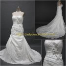 Free Shipping/A-line/Sweatheart/Taffeta/Court train/Bridal Wedding Dress/CWD015
