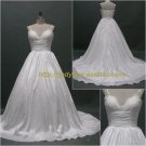Free Shipping/A-line/Spaghetti/Taffeta/Court train/Bridal Wedding Dress/CWD019