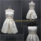 Free Shipping/A-line/Strapless/Satin/Short length/Evening Dress/CWD120