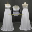 Free Shipping/A-line/Spaghetti/Chiffon/Floor Length/Bridal Wedding Dress/CWD125