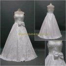 Free Shipping/A-line/Sweatheart/Taffeta/Floor Length/Bridal Wedding Dress/CWD128