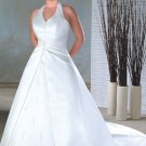 Free Shipping/A-line/Halter/Satin/Court Train/Bridal Wedding Dress/PS017