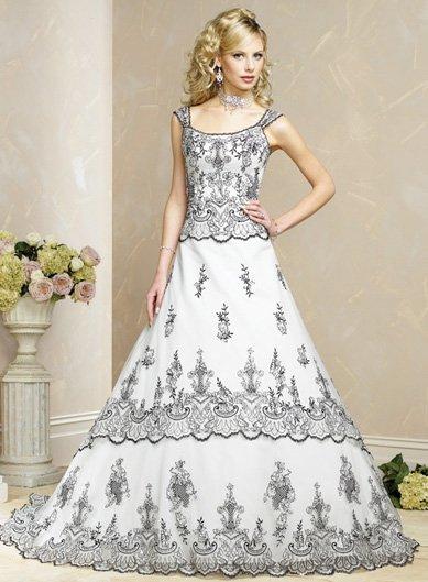 Free Shipping/A-line/Off the shoulder/Satin&mesh/Chapel train/Bridal Wedding Dress/BR60