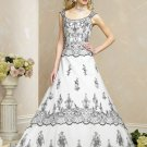 Free Shipping/A-line/Off the shoulder/Satin&mesh/Chapel train/Bridal Wedding Dress/BR60