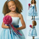 Free Shipping/A-line/Spaghetti/Satin&Organza/Tea-Length/Flower girls dresses/FG007