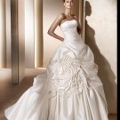 Free Shipping/2011 New arrival/A-line/Sweatheart/Satin/Chapel train/Bridal Wedding Dress/GG001
