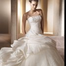 Free Shipping/2011 New arrival/A-line/Sweatheart/Satin&Mesh/Chapel train/Bridal Wedding Dress/GG007