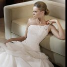 Free Shipping/2011 New arrival/A-line/One-shoulder/Satin&Organza/Chapel train/Wedding Dress/GG008