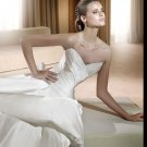 Free Shipping/2011 New arrival/A-line/Sweatheart/Satin/Chapel train/Bridal Wedding Dress/GG010
