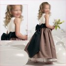 Free Shipping/A-line/Sleeveless/Satin/Ankle-Length/Flower girls dresses/FG027