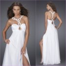 Free Shipping/A-Line/Halter/Chiffon/Floor-Length/Evening dress/wedding gown/LN006