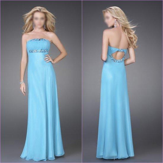 Free Shipping/A-Line/Sweatheart/Chiffon/Floor-Length/Evening dress/wedding gown/LN010