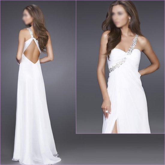 Free Shipping/A-Line/Sweatheart/Chiffon/Floor-Length/Evening dress/wedding gown/LN012
