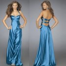 Free Shipping/A-Line/Halter/Satin/Floor-Length/Evening dress/wedding gown/LN020
