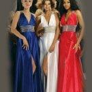 Free Shipping/A-Line/Sleeveless/Elasticized Satin/Floor-Length/Evening dress/wedding gown/PE008