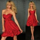 Free Shipping/A-Line/Sweatheart/Satin/Mini-Length/Evening dress/Bridesmaid Dresses/RM025