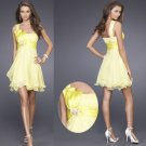 Free Shipping/A-Line/One-shoulder/Taffeta&Chiffon/Mini-Length/Evening dress/Bridesmaid Dresses/RM009