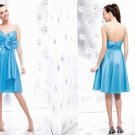 Free Shipping/A-Line/Spaghetti/Taffeta/Mini-Length/Evening dress/wedding gown/P8031
