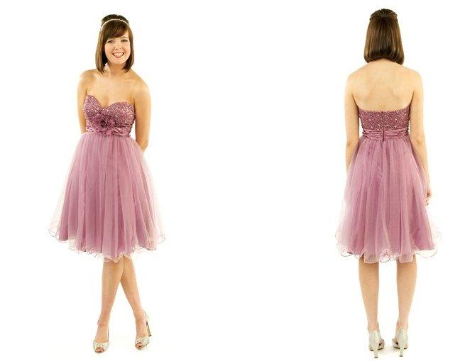 Free Shipping/A-Line/Sweatheart/Taffeta&Organza/Mini-Length/Evening dress/wedding gown/P8050