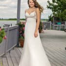 Free Shipping/A-line/Spaghetti/V-neck/Satin/Floor Length/Bridal Wedding Dress/YY327