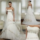 Free Shipping/2011 New arrival/A-line/Sweatheart/Satin&Organza/Chapel train/Wedding Dress/A1001