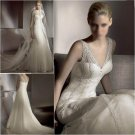Free Shipping/2011 New arrival/A-line/Sweatheart/Satin&Mesh/Chapel train/Wedding Dress/A1008