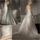 Free Shipping/2011 New arrival/A-line/Sweatheart/Taffeta&Lace/Chapel train/Wedding Dress/A1015