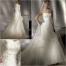 Free Shipping/2011 New arrival/A-line/Sweatheart/Satin&Organza/Chapel train/Wedding Dress/A1016
