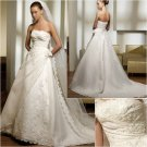 Free Shipping/2011 New arrival/A-line/Strapless/Satin&Organza/Chapel train/Wedding Dress/A1019