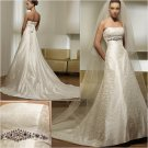 Free Shipping/2011 New arrival/A-line/Strapless/Satin/Chapel train/Wedding Dress/A1020
