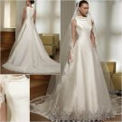 Free Shipping/2011 New arrival/A-line/Sleeveless/Satin/Chapel train/Wedding Dress/A1022