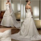 Free Shipping/2011 New arrival/A-line/Sweatheart/Taffeta/Chapel train/Wedding Dress/A1024