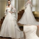 Free Shipping/2011 New arrival/A-line/Sweatheart/Satin&Organza/Chapel train/Wedding Dress/A1026