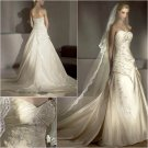 Free Shipping/2011 New arrival/A-line/Sweatheart/Taffeta/Chapel train/bride wedding dress/A1030