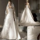 Free Shipping/2011 New arrival/A-line/One-Shoulder/Satin/Chapel train/Wedding Dress/A1050