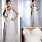 Free Shipping/2011 New arrival/A-line/Sleeveless/Chiffon/Floor length/Wedding Dress/A1052