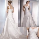 Free Shipping/2011 New arrival/A-line/Off the Shoulder/Satin/Chapel train/Wedding Dress/A1059