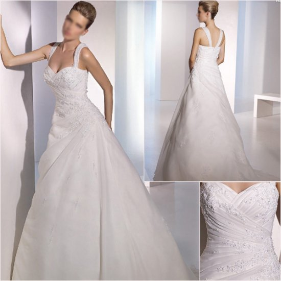 Free Shipping/2011 New arrival/A-line/Off the Shoulder/Taffeta/Chapel train/Wedding Dress/A1060