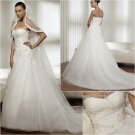 Free Shipping/2011 New arrival/A-line/Sweatheart/Satin&Mesh/Chapel train/Wedding Dress/A1041