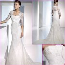 Mermaid/Stapless/Satin&Mesh/Chapel train/luxurious Wedding Dress with jacket/A1073