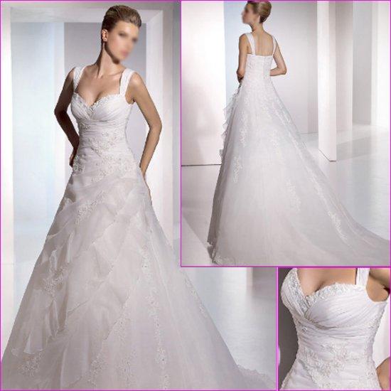 Free Shipping/Mermaid/Off the shoulder/Taffeta/Chapel train/Wedding Dress/A1074