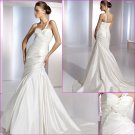 Free Shipping/2011 New arrival/A-line/One shoulder/Taffeta/Satin/Chapel train/Wedding Dress/A1079