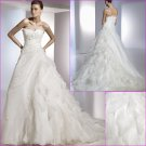 Free Shipping/2011 New arrival/A-line/Sweatheart/Satin&Organza/Chapel train/Wedding Dress/A1085