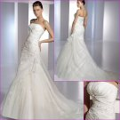 Free Shipping/2011 New arrival/A-line/Straples/Satin&Organza/Chapel train/Wedding Dress/A1088