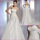 Free Shipping/2011 New arrival/A-line/Strapless/Taffeta/Chapel train/Wedding Dress/A1094