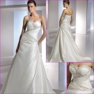 Free Shipping/2011 New arrival/A-line/Sweatheart/Satin/Chapel train/Wedding Dress/A1095